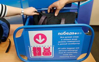 Инструкция по оплате багажа онлайн на рейсе авиакомпании Победа