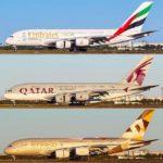 Qatar Airways, Etihad или Emirates